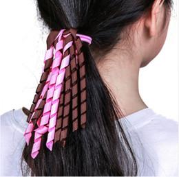 Maman et bébé rubans de cheveux bouclés colorés filles cheveux bandes de caoutchouc enfants titulaires de queue de cheval bandes de cheveux élastiques pour les femmes ? partir de fabricateur