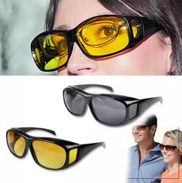 антибликовые линзы Скидка HD ночного видения вождения солнцезащитные очки мужчины желтый объектив над обернуть вокруг очки темное вождение UV400 защитные очки анти-блики B11