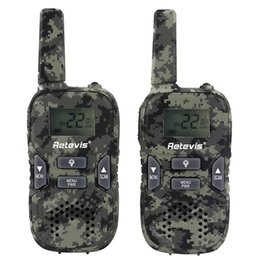 Radio de camouflage en Ligne-KIDS Retevis RT33 Talkie-walkie Ordinateur de poche Radio Camouflage Sans fil Talkie-walkie GMRS / PMR Lampe de poche LED