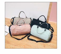 Wholesale Wholesale Fashion Shoes Bags - Fashion Letter Print Men Travel Bag Women Luggage Backpacks Shoe Case Travel Bags 4Colors canvas Bag Men YYA971