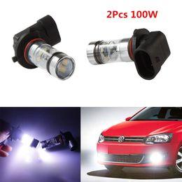 Wholesale H11 Led Bulb Cree - 2Pcs 9005 9006 HB3 9145 H10 6000K 100W White 6000K Cree LED Projector Fog Driving Light Bulb White CLT_06W
