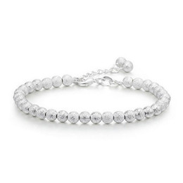 New Trendy Accessories Silver Plated Bracelet 5MM  Bracelet Ball Chain Bracelet Bangles for Women Valentine's day Gifts от