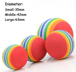 Wholesale Funny Activities - Colorful Pet Dog Cat Kitten Soft Foam Rainbow Play Balls Playing Training Interactive Activity Toys Funny EVA Balls Top Quality