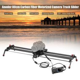 2019 schienenschieber für dslr Andoer GP-120QD 120 cm motorisierter Kamera-Track-Slider Dolly Rail Kohlefaser Zeitraffer Follow Focus für DSLR ILDC-Camcorder günstig schienenschieber für dslr