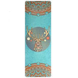 Nuovo stile 183 cm * 61 cm * 5mm Nuovo stile gomma naturale assorbire il sudore confortevole tessuto scamosciato antiscivolo perdere esercizio yoga stuoia supplier yoga mat natural da yoga mat naturale fornitori
