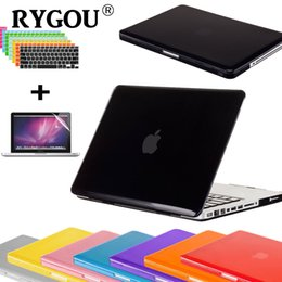 Wholesale Macbook Pro Case Clear - RYGOU 3 in 1 Crystal Clear Transparent Case for Macbook Air Pro Retina 11 12 13 15 laptop Bag Cases for Mac Book air 13.3 inch