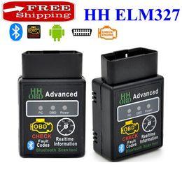 Mini elm327 android online-Envío gratis! V2.1 Mini Bluetooth ELM327 OBD HH OBDII Escáner de diagnóstico del coche 3231Chip funciona en Android / Symbian / Windows HH ELM327 Escáner