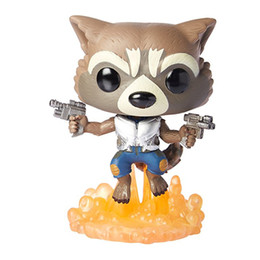 Wholesale Fly Abs - Rocket Funko POP Movie Flying Star Lord Anime Action Figure Animation 10CM 4inch Guardians of the Galaxy 2 Yondu figure Groot models boxes