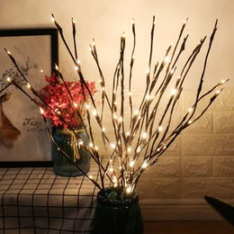 Wholesale led light willow tree - Decorative Lights LED Lights Branch Light Branches Battery Powered Willow Twig Lighted Branch for Home Decoration Warm White