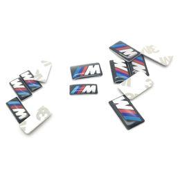 Wholesale e36 wheels - 10PCS M Mpower M-tech Emblem Badge Sticker Wheel Decal for BMW E46 E30 E34 E36 E39 E53 E60 E90 F10 F30 M3 M5 M6 Car styling