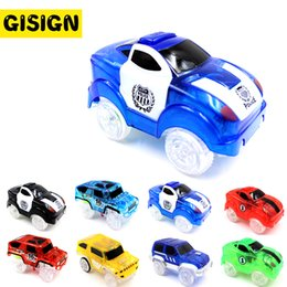 Wholesale play tracks - LED Tracks Magic Cars Toy Electronics Flashing Play on Glowing Racing Fancy Flexible Track Car Toys for Boys Children Gift