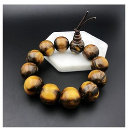 white sea coral NZ - New products, sea Liu, men's domineering single circle hand string 2 black coral golden silk Liu Wen playing Buddha beads male Buddha beads