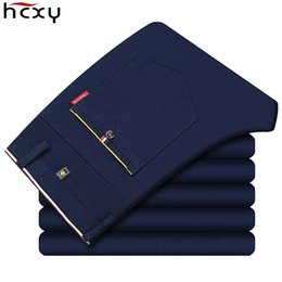 Wholesale Dark Grey Work Pants - 2017 new fashion Mens Casual Pants high quality Brand Work Pants male Clothing Cotton Formal Trousers men size 36 38