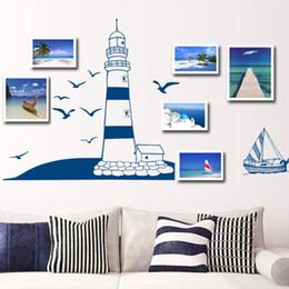 Pegatina de pared extraíble azul patrón de papel tapiz de bricolaje para 22.5 * 50cm decoración de la pared materiales para el hogar desde fabricantes