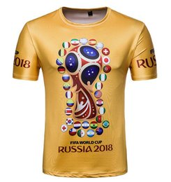 Wholesale team t shirts wholesale - crew neck FIFA WORLD CUP RUSSIA 2018 Men's T-Shirts Germanic chariot German football team t shirts