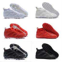 2019 messi botas negras baratos 2018 Venta por mayor de alta calidad Predator Accelerator DB David Beckham cápsula FG Soccer Cleats Mens Soccer Shoes Fútbol botas EUR 40-46