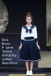 rin kagamine cosplay Desconto Japão Anime Meninas Aluno Da Escola Uniforme terno de Marinheiro trajes estudante Aluno COSPLAY Define de manga comprida JK roupas uniformes