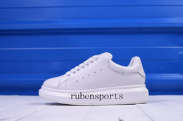 Wholesale Silver Platforms Shoes - Fashion Mens Womens Luxury Espadrilles Leather Platform Shoes Flat Low-Top Casual Shoes Sheep Leather Back Lady Sneakers 35-45