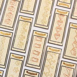 2019 nette schulnotizbücher Kreative nette handgemachte Metallbürogeschulenbüroklammern stellten Briefpapier, feine Süßigkeitstudentennotizbuch-Bookmarkclips ein, stellten 4 PC / Los ein rabatt nette schulnotizbücher