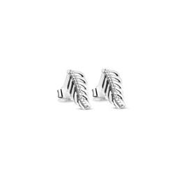 Canada Bijoux Accessoires Authentique S925 Pandora Argent Boucles D'oreilles Plumes Scintillantes Avec CZ Clair Convient Pour Européenne Style DIY 30582CZ Offre