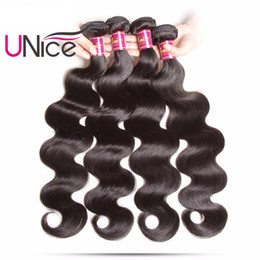 Argentina Unice Hair Malasia Body Wave 4 paquetes 100% Extensiones de cabello humano Malasia Virgin Hair humano paquetes Body Wave teje al por mayor a granel Suministro