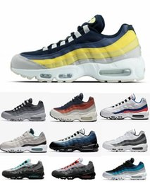 huge discount 78dd8 7a2ee 95 Chaussures de course Hommes Designer Essential Sneakers 20e anniversaire  95 97 OG 98 vm tn plus Casual Black Sports Athletic Air Trainers Shoes ...