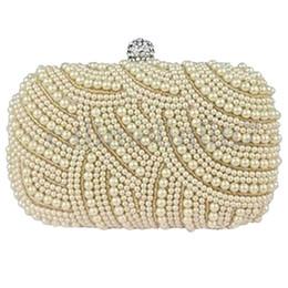 sac de mariage crème Promotion Dames perlée partie prom mariée sac à main d'embrayage sac à main sac de soirée de mariage, couleur crème
