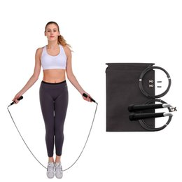 Измеритель прыжков онлайн-5Pcs Steel Wire Skipping Skip Adjustable Jump Rope Crossfit Fitnesss Equimpment Exercise Workout 3 Meters Speed Rope Training
