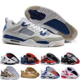 Wholesale Cheap Lace Fabric For Sale - [With Box]New arrived 100% hight quality waterproof 4 men basketball shoes all white cheap Basketball Men Athletic Shoes for sale