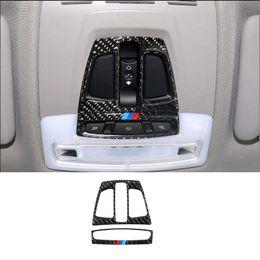2019 lampe bmw x5 Cadre de couverture de cadre de lampe de lecture de lampe avant intérieur de voiture en fibre de carbone pour BMW 1 2 3 4 série 3GT X1 X5 X6 F20 F30 F31 F32 F34 F36 F31 lampe bmw x5 pas cher