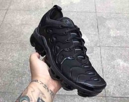 Wholesale Media Plus - Vapormax TN Plus Olive In Metallic White Silver Colorways Shoes Men Shoes For Running Male Shoe Pack Triple Black Mens airs Shoes