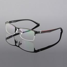 cdaf4b99d0 -135 Anteojos semi-sin montura de titanio puro ultra ligero marco TR90 gafas  de pierna elástica oculos de grau Marco de gafas