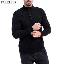 24a184f30f7b Jacquard Pullover Herren Pullover Einfarbig Rollkragenpullover Männliche  Pullover Mantel 2018 Marke 5 Taste Langarm Stricken Pullover Männer herren  ...