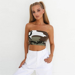 85f908f658 New Summer Women Ladies Strapless Top Plain Printed Tube Stretchy Bandeau Boob  Crop Clothes Tops