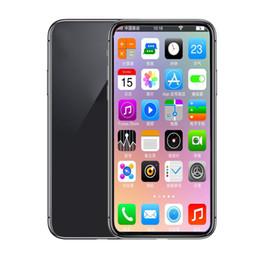 sigilla il telefono Sconti 5.8 pollici Andriod phone ix xs 1GBRAM 8GBROM MTK6580 QuadCore 8MP 3G WCDMA Face ID Andriod OS Sealed Box Fake 4G visualizzato Smartphone