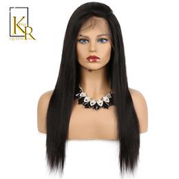 queens capelli remy brasiliani Sconti Parrucche dei capelli umani anteriori del merletto per le donne nere Remy Capelli neri diritti brasiliani pre pizzicati con l'attaccatura naturale Re Rosa Regina
