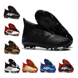 Wholesale Model Cotton - Messi Soccer Shoes Neymar Football Shoes Predator 18.1 Outdoor Soccer Boots Men Football Cleats Soccer Sports Shoes 1000 Models 35-46