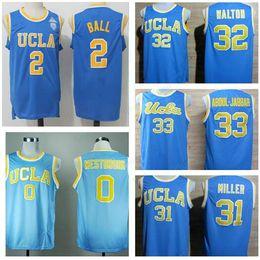 Wholesale ucla bruins - New UCLA Bruins College Jerseys 42 Kevin Love Shirt 33 Kareem Abdul Jabbar 0 Russell Westbrook 31 Reggie Miller 32 Bill Walton 2 Lonzo Ball
