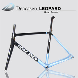 Wholesale Carbon Road Bike Frame 48 - Cheap new style carbon road bike frame 2018 Deacasen carbon fiber bicycle frame 45 48 50 52 54 56cm BB86 carbon road frame made in china