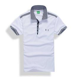 Polos para hombre Manga corta Diseñador de bordados 3D Marca Luxur polo camisetas cortas de solapa Camisetas Camiseta formal para hombre Slim. desde fabricantes