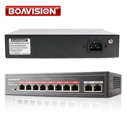 Wholesale Power Switch Ethernet - With 8 Port PoE Switch Adapter 8+2 Port Desktop Fast Ethernet Switch IEEE802.3af at 104W For CCTV Network IP Cameras POE Powered