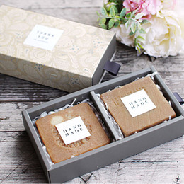 caixa de artesanato de gaveta Desconto Caixas de gaveta de papel de 3 tamanhos Caixa de presente de doces de festa de casamento para embalagens de jóias artesanais de sabão