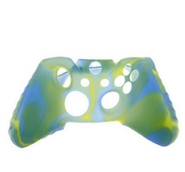 Wholesale xbox one silicone case - 2018 For Xone Soft Silicone Flexible Camouflage Rubber Skin Case Cover For Xbox One Slim Controller Grip Cover High quality