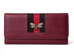Wholesale large wallet clutch organizer - Free shipping nEW 2018 Genuine Leather Women Wallets Long Design Clutch Large Capacity Wallets Female Purse