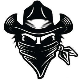 Paquete de gráficos online-Western Cowboy Robber Boy Girl Etiqueta engomada del coche Vinilo Empaquetado del coche Cool Graphic Carácter decorativo