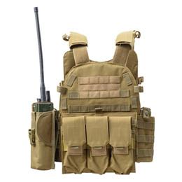 Chaleco táctico del ejército al por mayor Wargame Body Molle Chaleco de caza CS Chaleco de los hombres al aire libre con el bolsillo de hidratación Titular Chaleco de camuflaje desde fabricantes