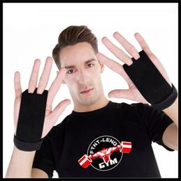 Agujero de guantes online-Gimnasia artística Palmas de protección Guante de cuero de deporte genuino Dos agujeros Guantes de guardia de levantamiento de pesas Accesorios de fitness Venta caliente 16 horas Ww