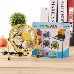Ventilateur USB de 4 pouces, mini ventilateur de feuille d'aluminium, ventilateur de fer silencieux de bureau. Accueil d'été indispensable, résistant aux chutes et aux petits ventilateurs. ? partir de fabricateur