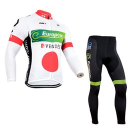 Wholesale Cube Mtb - CUBE COLNAGO DISCOVERY EUROPCRA team Cycling long Sleeves jersey (bib) pants sets MTB Wear bike High Quality clothes ropa ciclismo C1320