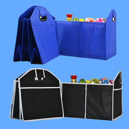 Wholesale Foldable Storage Bins - Foldable Car Organizer Auto Trunk Storage Boxs Bins Toys Food Stuff Storage Container Bags Auto Interior Accessories Case Gifts WX9-421